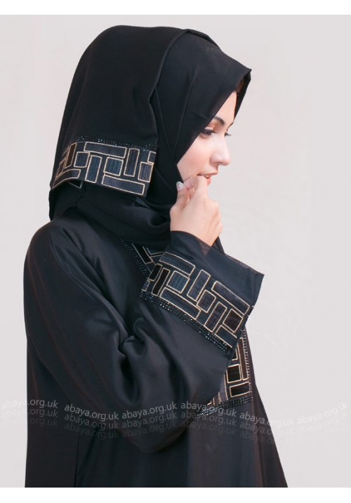 Quad Embroidered abaya EST123